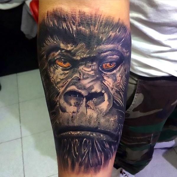 Manly Gorilla Tattoo Idea