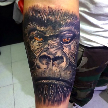 Manly Gorilla Tattoo Tattoo