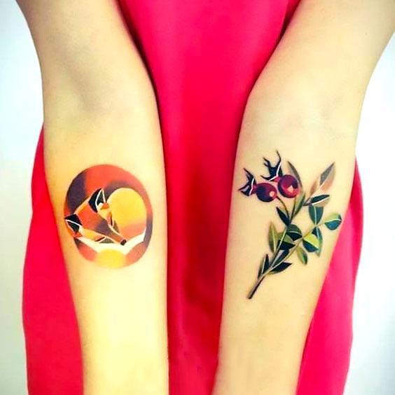 Amazing Fox Tattoo Idea