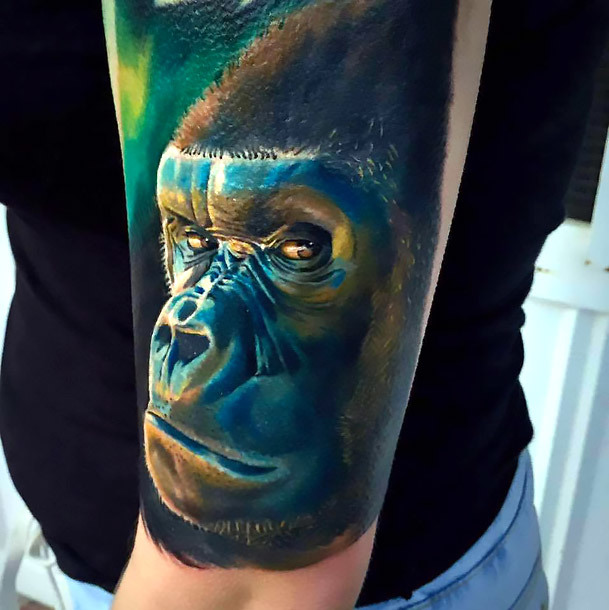 Realistic Gorilla Tattoo Idea