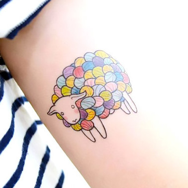 Small Sheep Tattoo