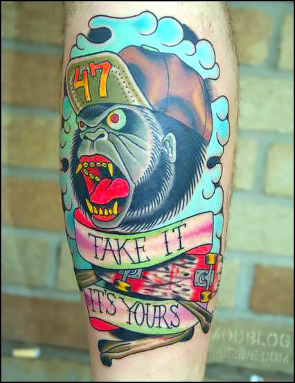 Take It Its Yours Tattoo Idea