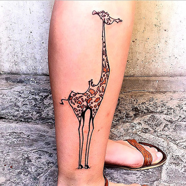 Weird Giraffe Tattoo