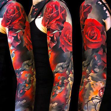 Roses Sleeve Tattoo