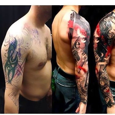 Sleeve Cover Up Tattoo