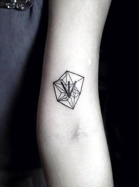 Small Crystal Arm  Tattoo Idea