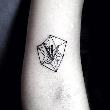 Small Crystal Arm  Tattoo
