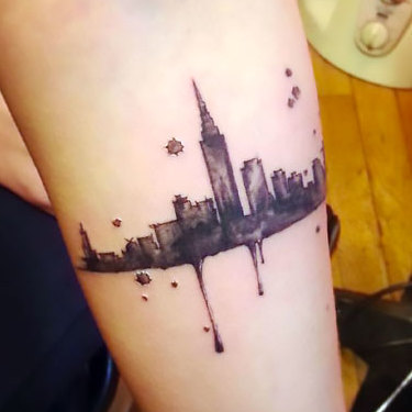 Small New York on Forearm Tattoo