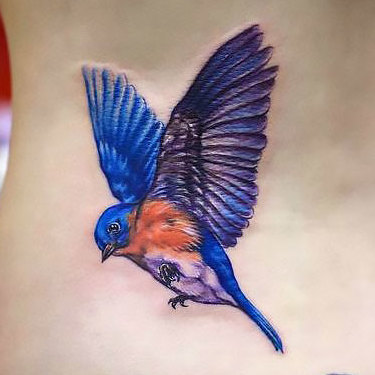 Soaring Bluebird Tattoo