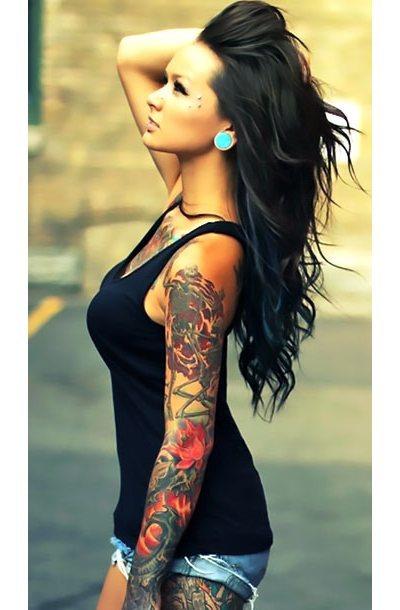Sleeve for Girls Tattoo Idea