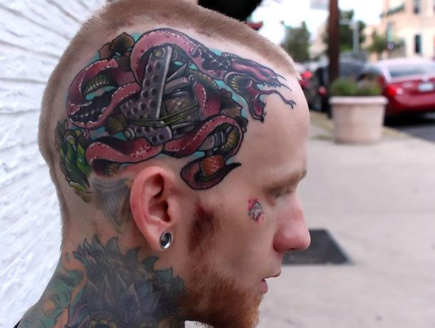 Snake Head Tattoo Idea