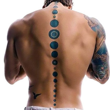 Spine Men Tattoo