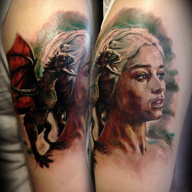 Daenerys with Dragon Tattoo