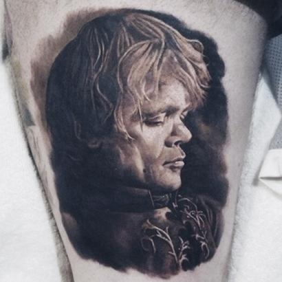 Tyrion Lannister Portrait Tattoo Idea