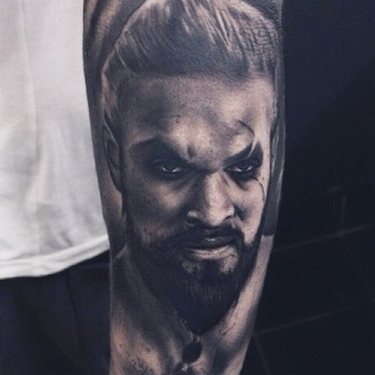 Khal Drogo from Game of Thrones Tattoo
