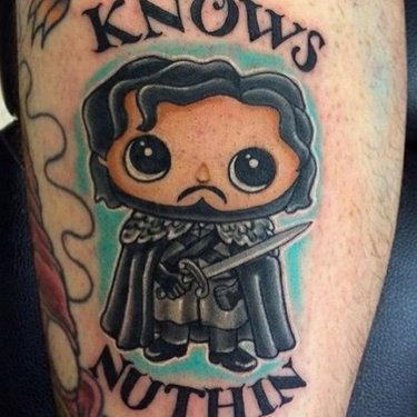 Jon Snow Knows Nuthin Tattoo