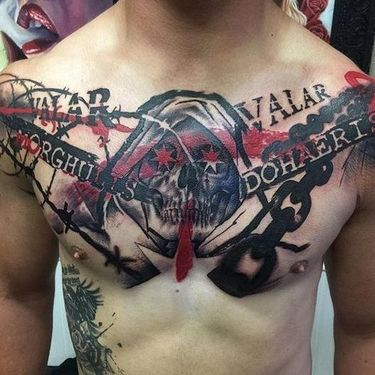 Game of Thrones Trash Polka Tattoo