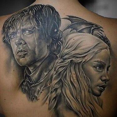 Daenerys Targaryen and Tyrion Lannister Tattoo