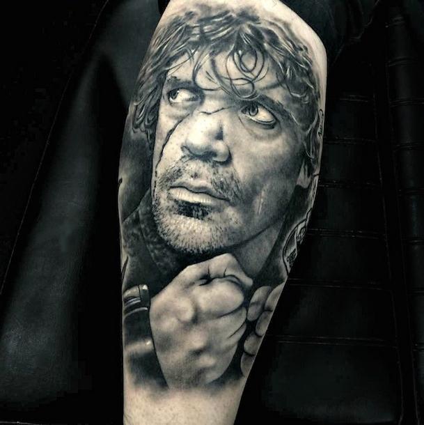 Tyrion Lannister Portrait Arm Tattoo Idea