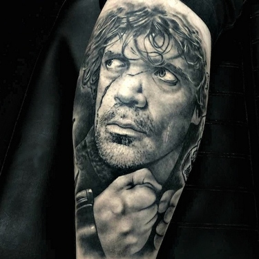 Tyrion Lannister Portrait Arm Tattoo
