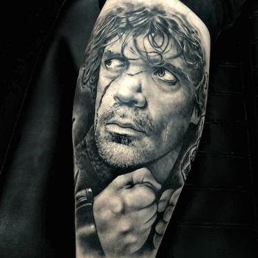 Tyrion Lannister Portrait Arm Tattoo