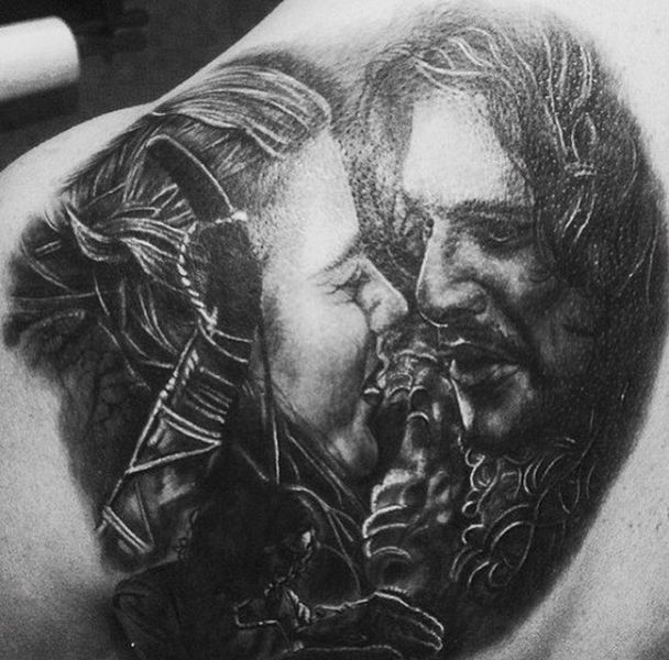 Jon and Ygritte Game of Thrones Tattoo Idea