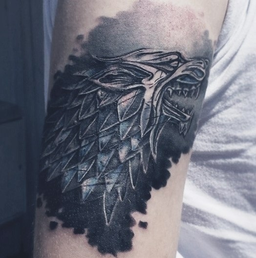 Starks Logo Wolf Tattoo Idea