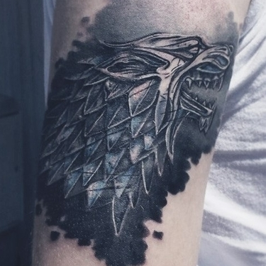 Starks Logo Wolf Tattoo