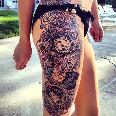 Side Leg Tattoo