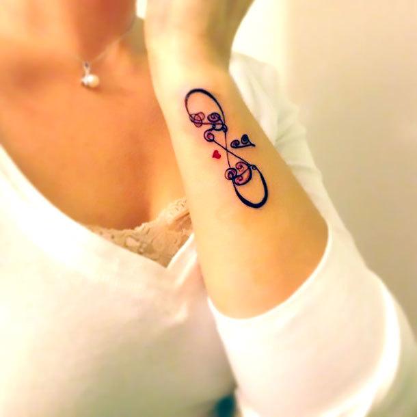 Side Wrist Infinity Tattoo Idea
