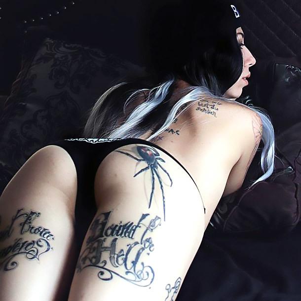 Spider Tattoo on Butt Tattoo Idea