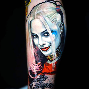 Smiling Harley Quinn Tattoo