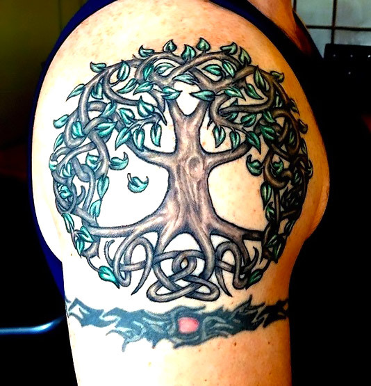 Celtic Tree of Life Tattoo Idea