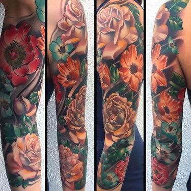 Flower Sleeve Tattoo