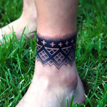 Band on Ankle Tattoo