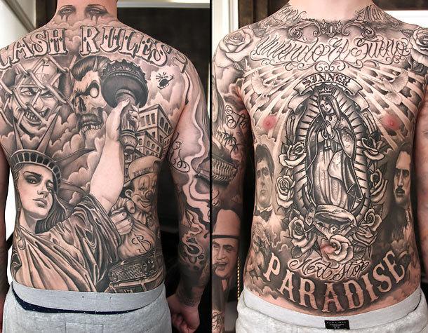 Full Body Chicano Tattoo Idea