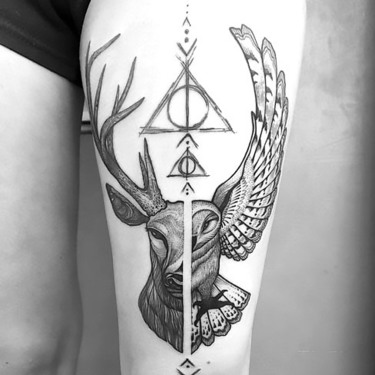 Amazing Harry Potter Inspired Tattoo