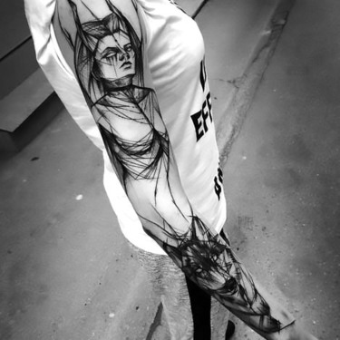 Amazing Sketch Style Sleeve Tattoo