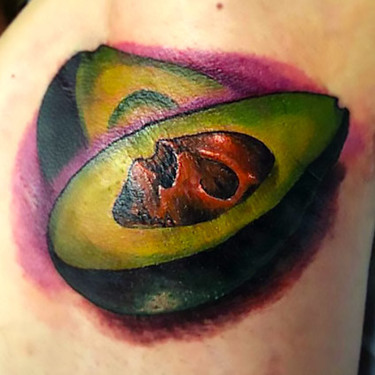 Armpit Avocado Tattoo