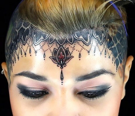 Awesome forehead Tattoo For Girls Tattoo Idea