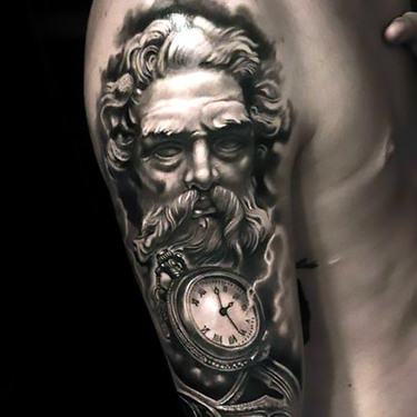 Best Black and Gray Gothic Tattoo for Men Tattoo