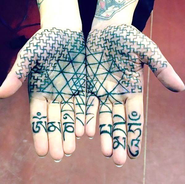 Cool Buddhist Palm Tattoo Tattoo Idea