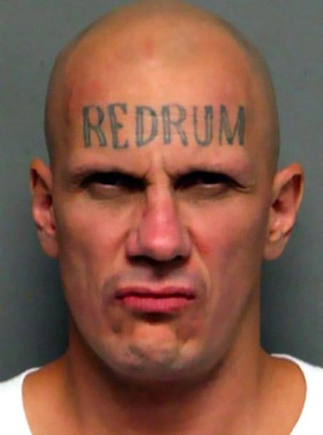 Creepy Redrum Tattoo Idea