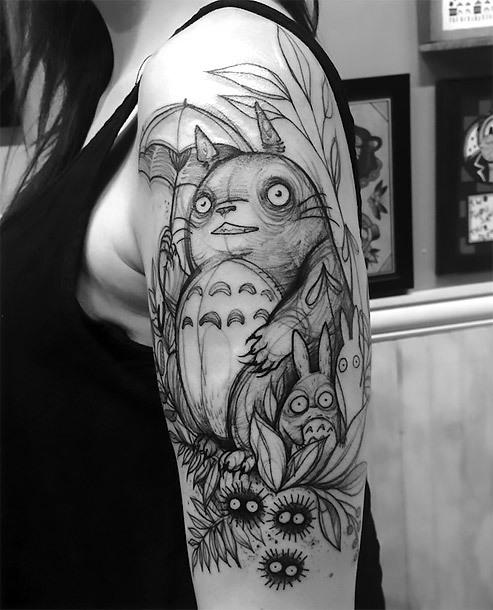 Funny Sketch Style Tattoo Idea for Girls Tattoo Idea