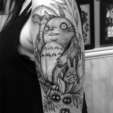 Funny Sketch Style Tattoo Idea for Girls Tattoo