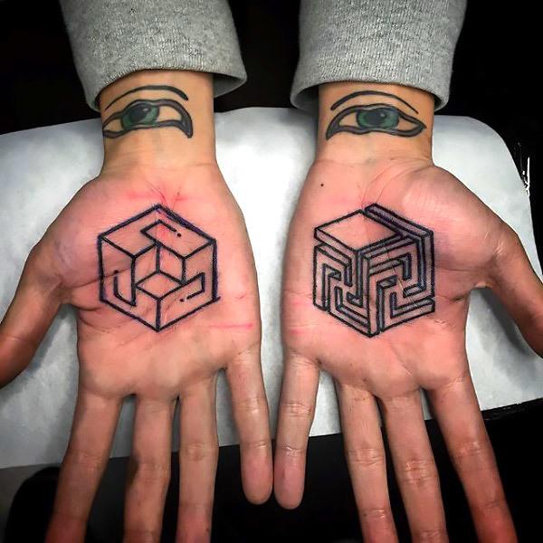 Geometric Palm Tattoos Tattoo Idea