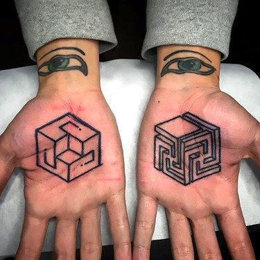 Geometric Palm Tattoos Tattoo