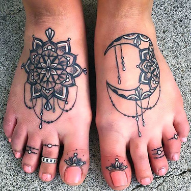 Great Feet and Toes Tattoo for Girls Tattoo