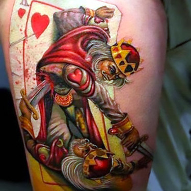 Great Gambling King of Hearts Tattoo