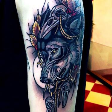 Amazing Wolf Tattoo